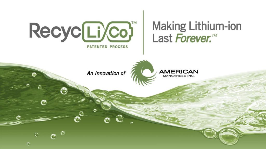Introducing the RecycLiCo™ Patented Process - An Innovation of American Manganese Inc.