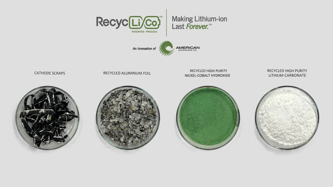 American Manganese Inc. Reports 99.98% Purity from Recycled Lithium-ion Battery Material